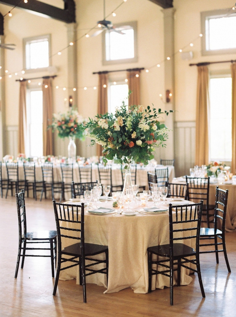 Image by Perry Vaile Photography at the Creek Club at I'On. Design and florals by Rebecca Rose Events.