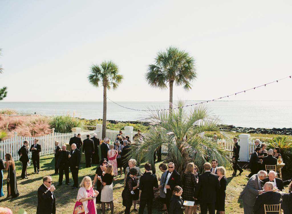Dottie's daughter, Victoria, celebrated her wedding to Carmine Peluso with a reception at the Frank's home on Sullivan's Island. Image by Juliet Elizabeth