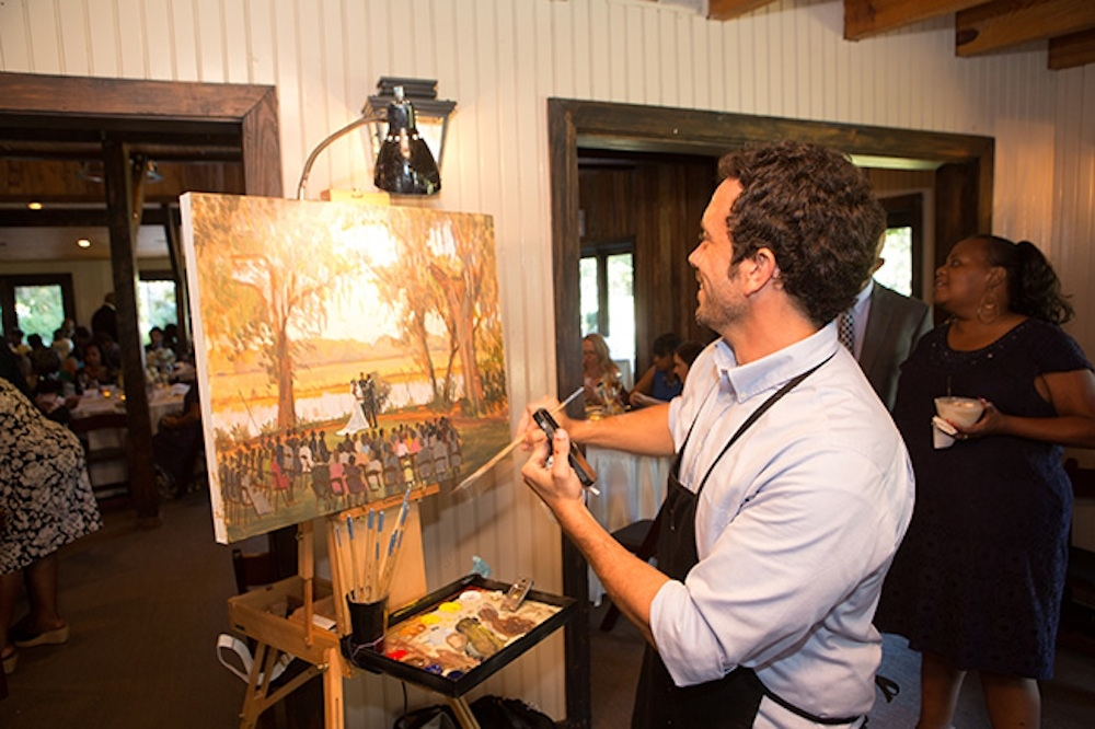 Live painting by Wed on Canvas. Image by Virgill Bunao Photography.