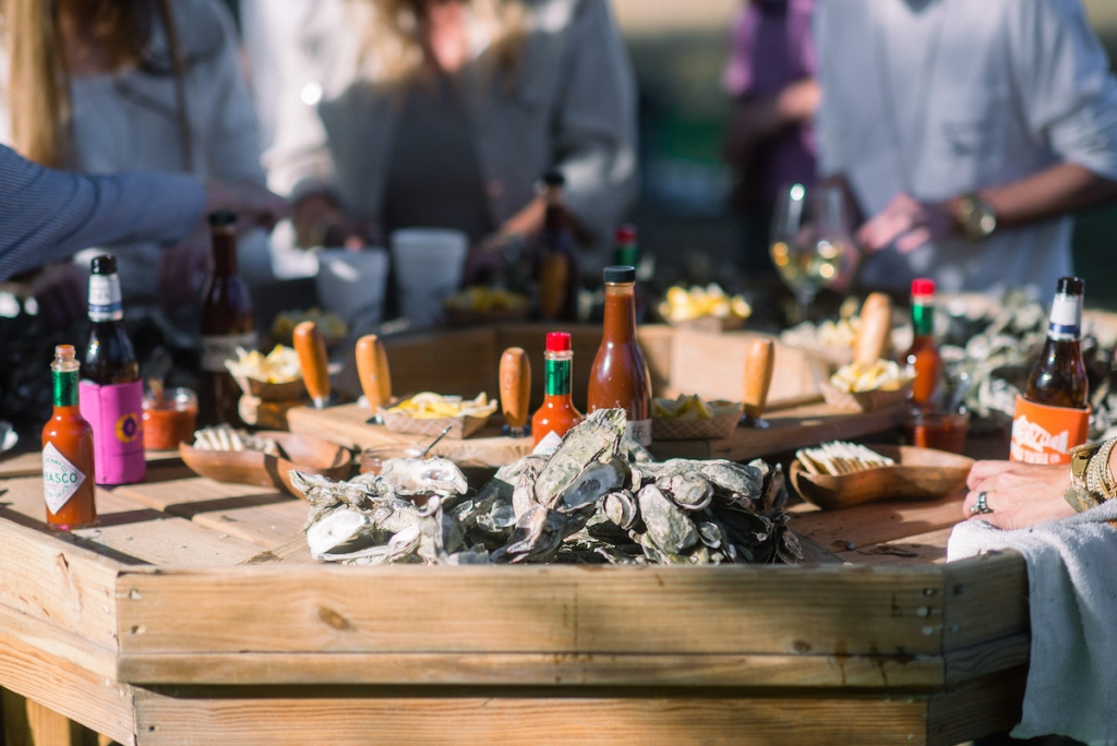 Oyster roast by Jim 'N Nicks catering (Photo by Tim Will)