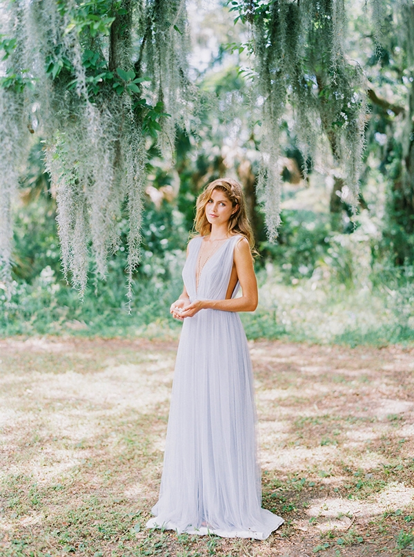"Joanna August's ""Michelle"" tulle gown in ""Winter Song"" from Bella Bridesmaid. Photograph by Perry Vaile"