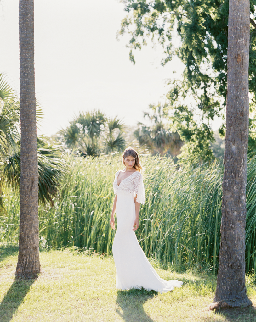 "Casablanca's ""Cheyenne"" gown from Palmetto Bridal Boutique. Photograph by Perry Vaile"