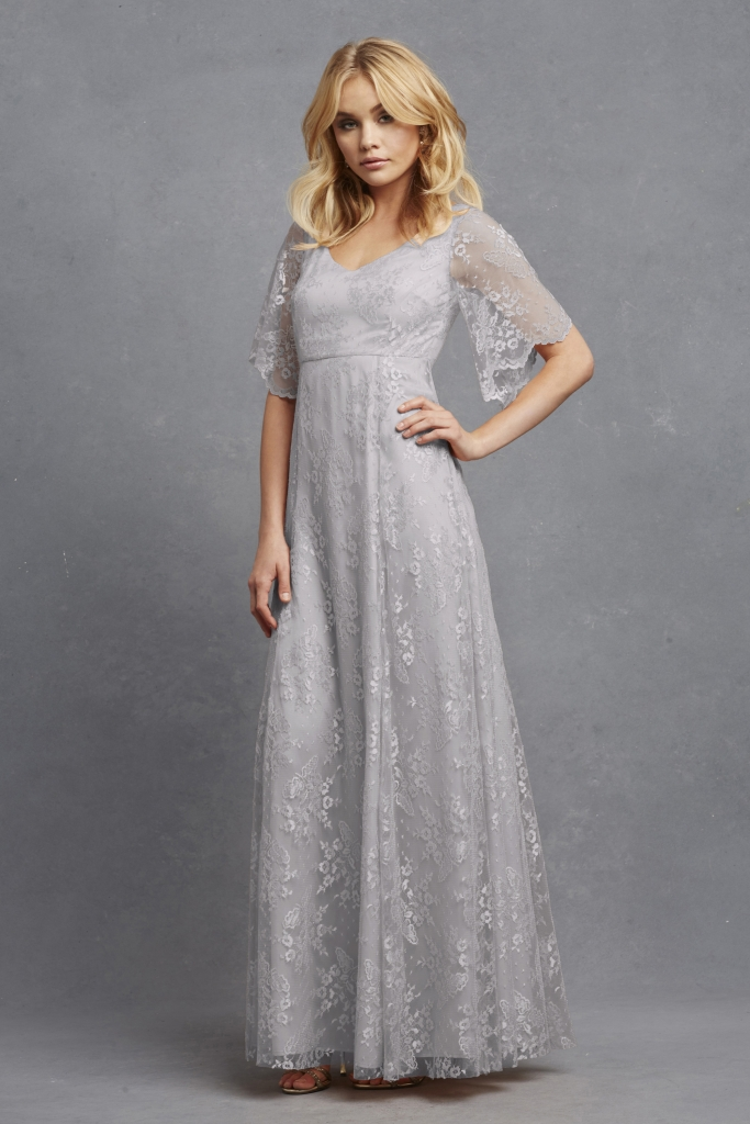 """ROMANTIC: Donna Morgan's """"Madeline,"""" available through Bella  Bridesmaids and Gown  Boutique of Charleston"""
