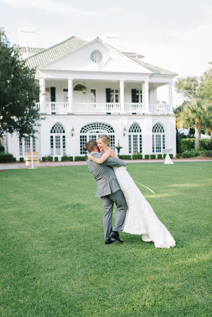Bride's gown by Maggie Sottero (available locally at Bridals by Jodi). Image by Clay Austin Photography at Lowndes Grove Plantation.