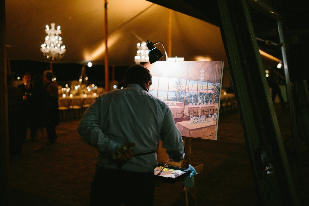 Live painting by Wed on Canvas. Image by Clay Austin Photography at Harborside East.