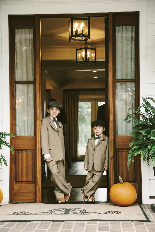 Ring bearers' suits from Jos. A. Bank. Photograph by Mark Williams Studio at the Daniel Island Club