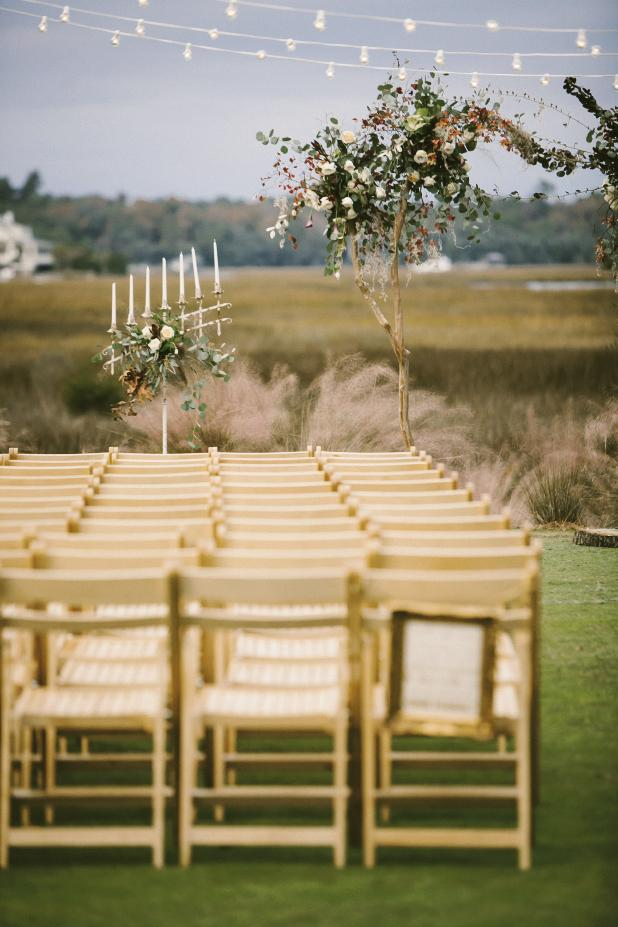 Chairs from Snyder Events. Photograph and wedding design by Mark Williams Studio at the Daniel Island Club.