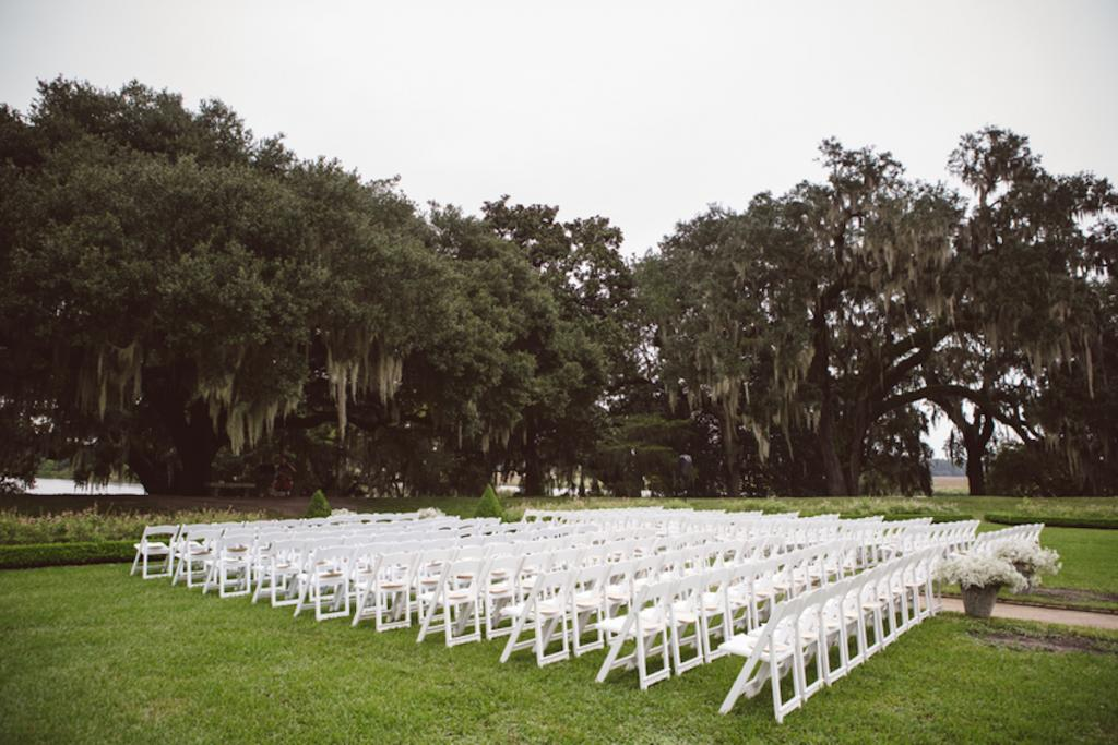Chairs by Snyder Events. Image by amelia + dan photography at Middleton Place.