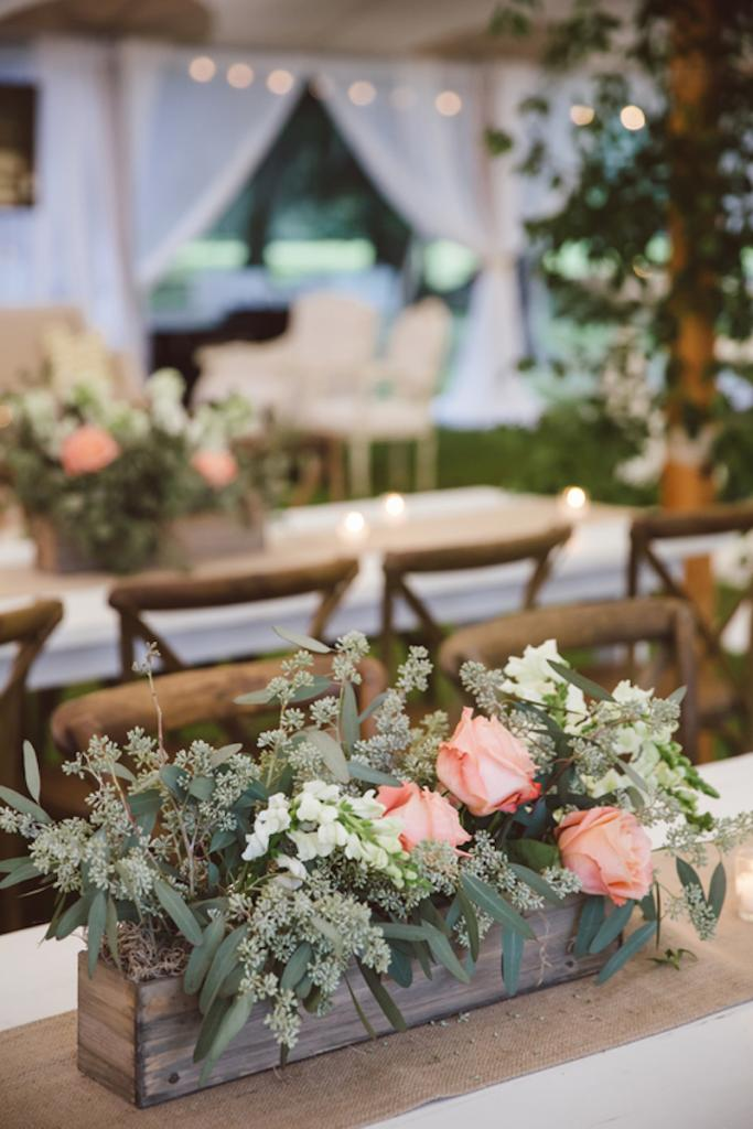 Florals and wedding design by Fox Events. Tables from EventHaus. Chairs from Snyder Events. Image by amelia + dan photography.