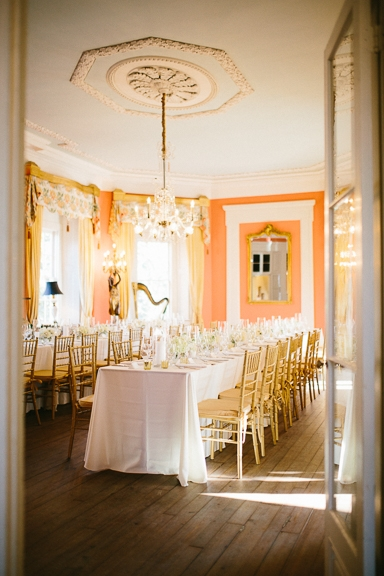 Wedding design by A. Caldwell Events. Rentals by Snyder Events and EventWorks. Linens by La Tavola. Image by Clay Austin Photography  at the William Aiken House.