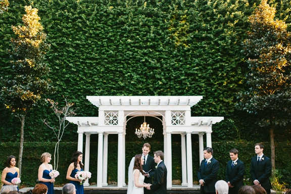 Florals by Tiger Lily Weddings. Lighting by IES Productions. Image by Clay Austin Photography at the William Aiken House.