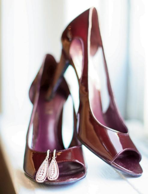 Shoes by Ralph Lauren. Earrings from Happily Ever Borrowed. Image by Aneris Photography.