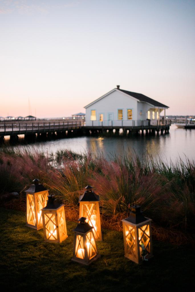 The Quartermaster Dock on Sullivan's Island, where Katie and Matt exchanged vows, was built in 1915.