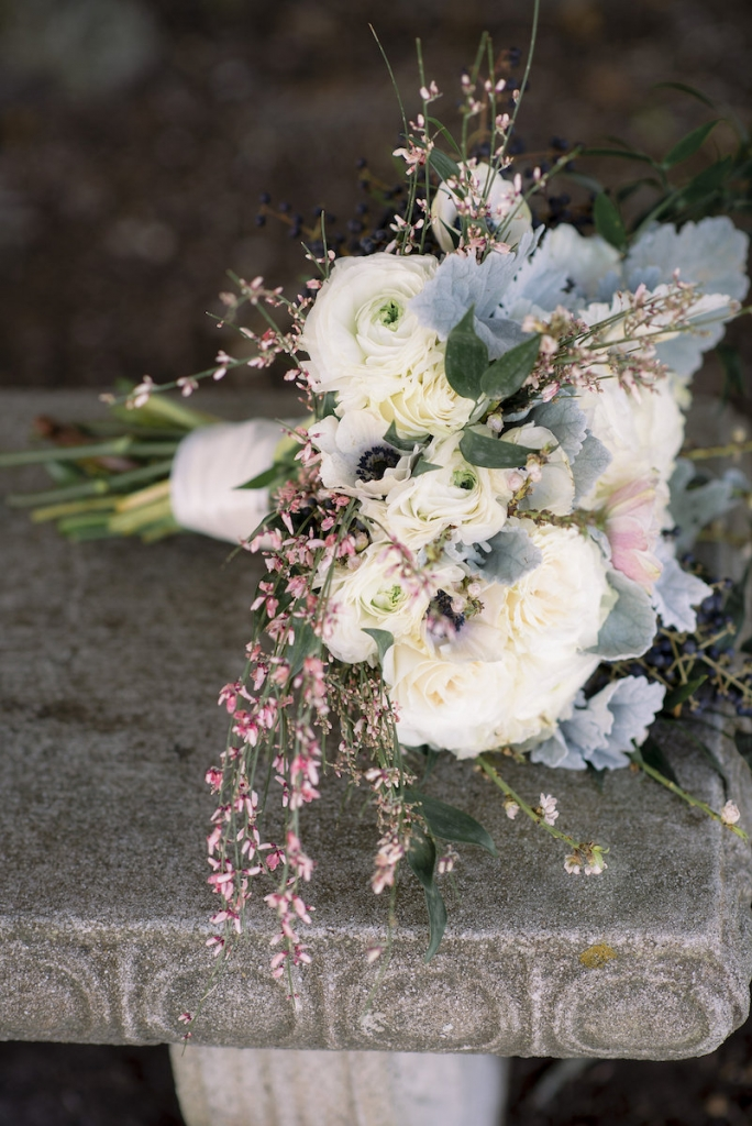 Florals by Stems Floral Design by Jonie Larosee. Image by Timwill Photography.
