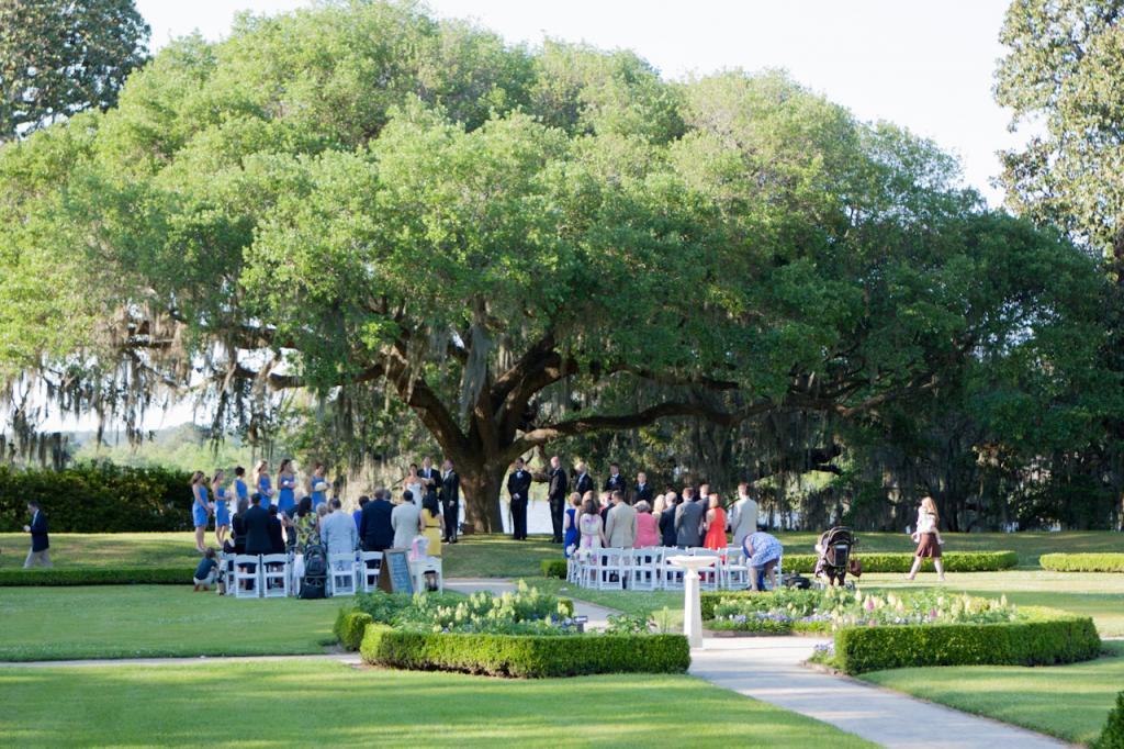 LOCATION, LOCATION: Patrick and D'Anne exchanged vows beneath the ancient Middleton Oak with the Ashley River as the backdrop.