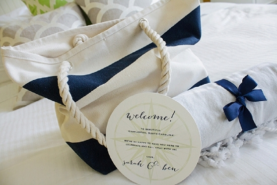 Welcome bag by A Signature Welcome. Stationery by The Silver Starfish. Shoot design by Scarlet Plan & Design. Image by The Click Chick Photography.