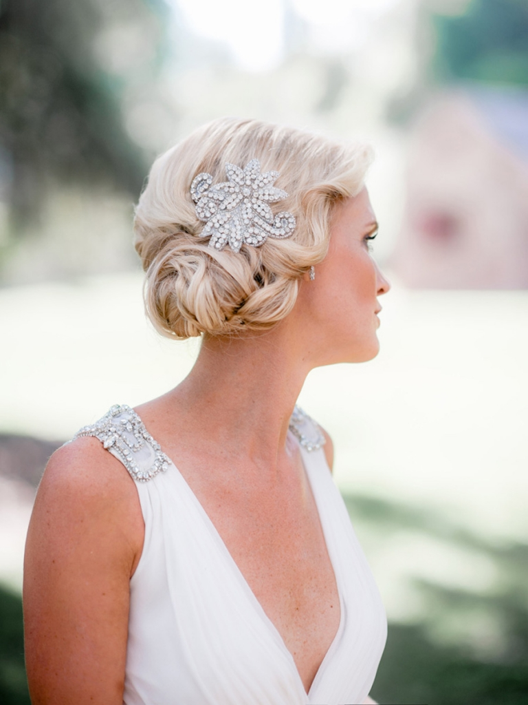 Bride's gown by Jenny Packham (available locally through White on Daniel Island. Beauty by Wedding Hair by Charlotte. Image by Brandon Lata Photography at Boone Hall Plantation and Cotton Dock.