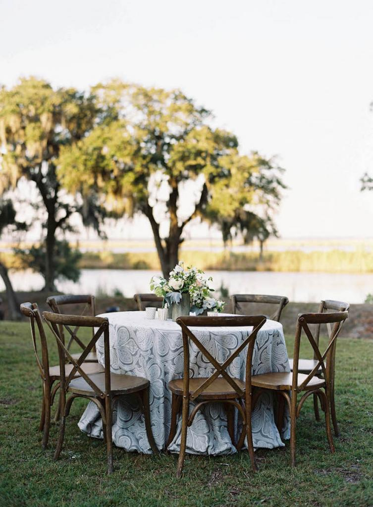 Tables and chairs by Snyder Events. Linens by La Tavola. Florals by Blossoms Events. Photograph by Tec Petaja.