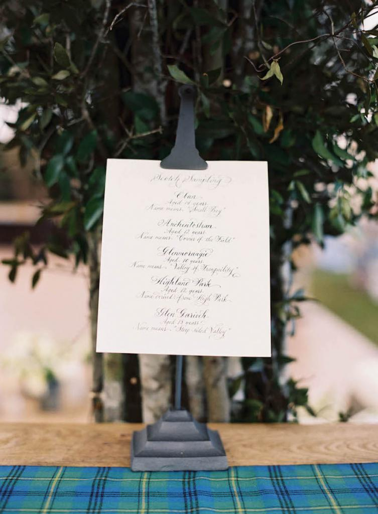 Wedding design by Calder Clark. Signage by Blossom Events. Photograph by Tec Petaja.