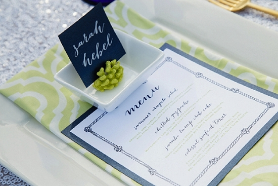 Stationery by The Silver Starfish. Linens by Ultrapom. Shoot design by Scarlet Plan & Design. Image by The Click Chick Photography.