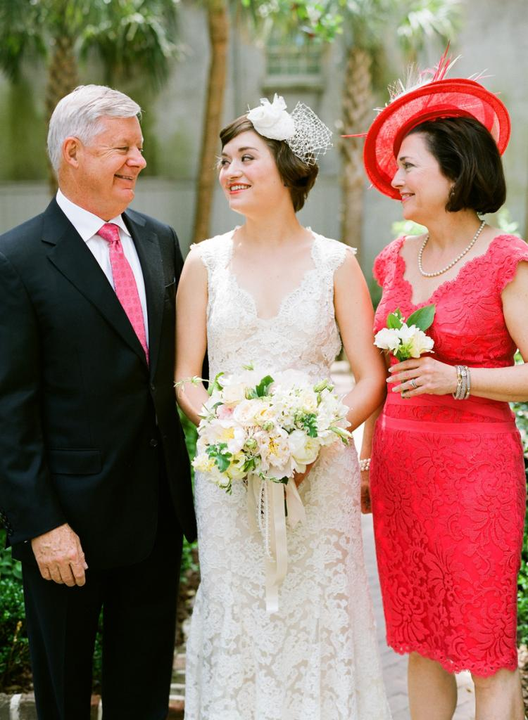 FAMILY AFFAIR: Liz's parents—both South Carolina natives—attended vendor meetings with the bride, helping her plan a dream Bid Day.