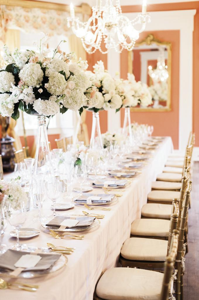 Event and floral design by Gathering Floral + Event Design. Rentals from Snyder Events. Photograph by Marni Rothschild Pictures at the William Aiken House.