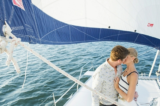 Boat by Om Sailing Charters. Bride's top through Target. Styling by Alden DeHart of Scarlet Styles. Shoot design by Scarlet Plan & Design. Image by The Click Chick Photography at Charleston Harbor Resort & Marina.