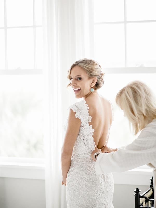 Bride's gown by Jenny Packham. Image by Brandon Lata Photography.