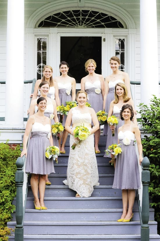 """GIRLFRIENDS: """"We hung out at my family's beach house drinking coffee while we got our nails done,"""" says Carrie of her wedding morning."""