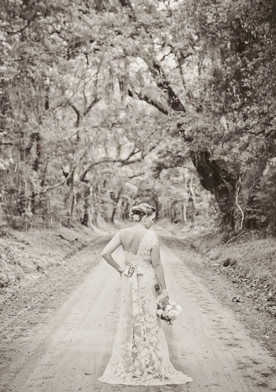 """HOME IS WHERE THE HEART IS: """"This one is simple—because it's home,"""" says Mount Pleasant native Carrie of why they chose to hold their wedding in the Lowcountry. """"My Southern roots run deep."""""""
