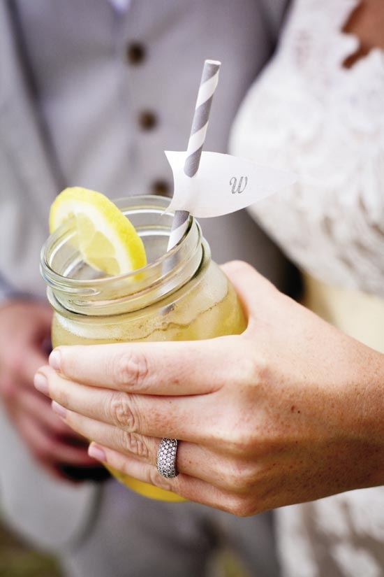 """SIGNATURE COCKTAIL: Carrie's father and Jonny concocted their """"Front Porch Drink,"""" a mix of Firefly Sweet Tea Vodka, lemonade, and mint simple syrup."""