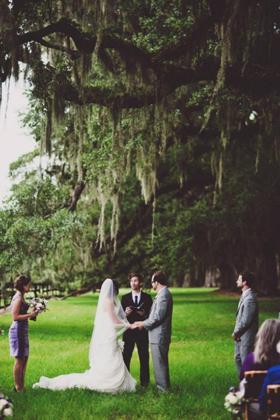 IN NATURE: Jacob and Kris' altar? Century old oaks and draping Spanish moss.