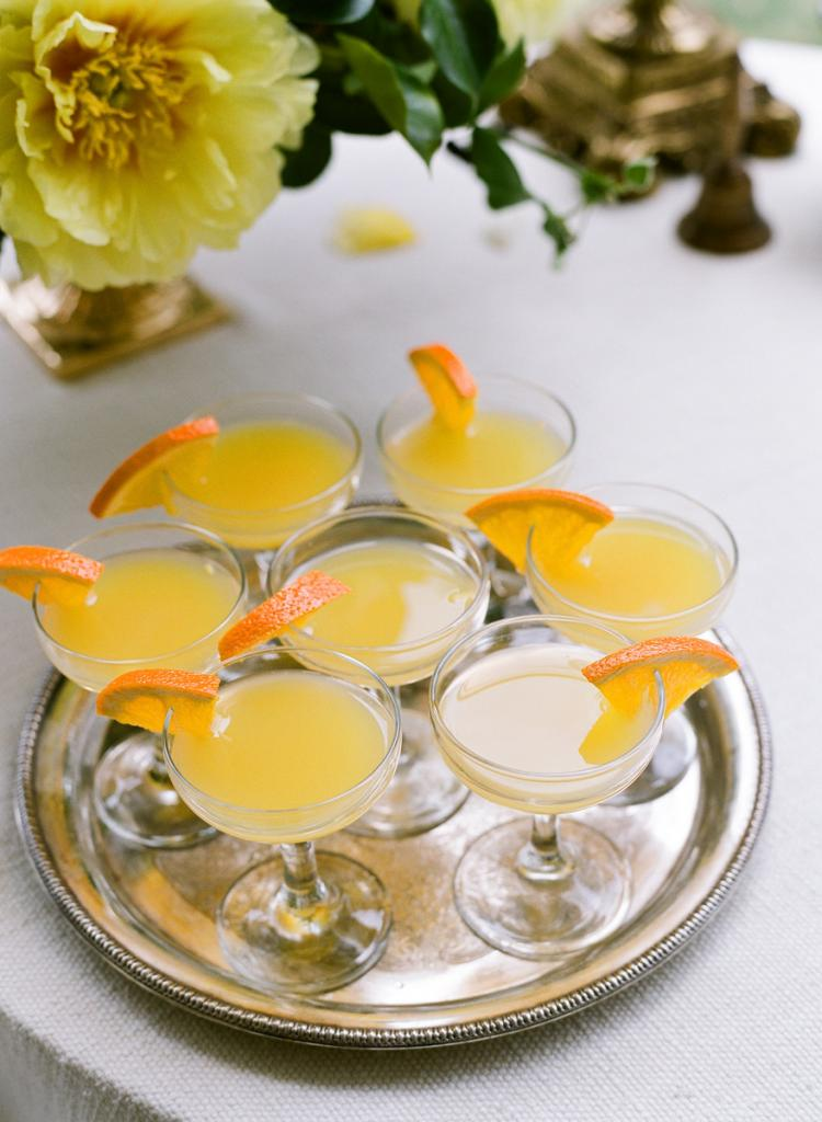 BRUNCH TIME: Guests enjoyed mimosas adorned with fresh citrus.