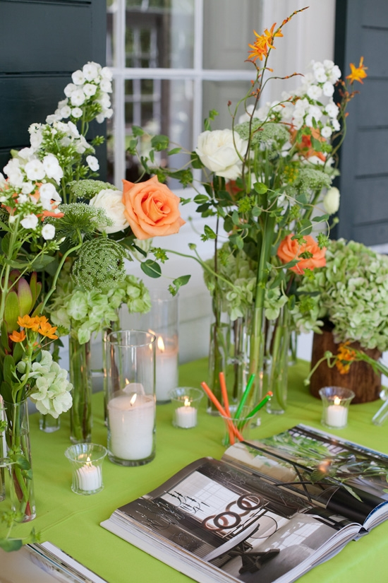 "LETTER PERFECT: Flower arrangements and flickering candles made the book signing station ""warm, gorgeous, and inviting,"" says Tyler."
