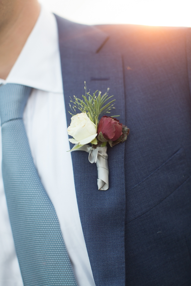 Menswear by SuitSupply. Florals by Charleston Stems. Photograph by Captured by Kate.