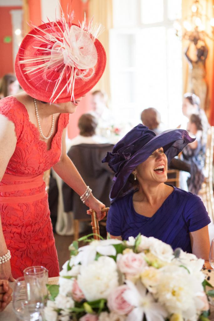 HATS OFF: Guests channeled the Downton Abbey feel of the day by wearing traditional hats.