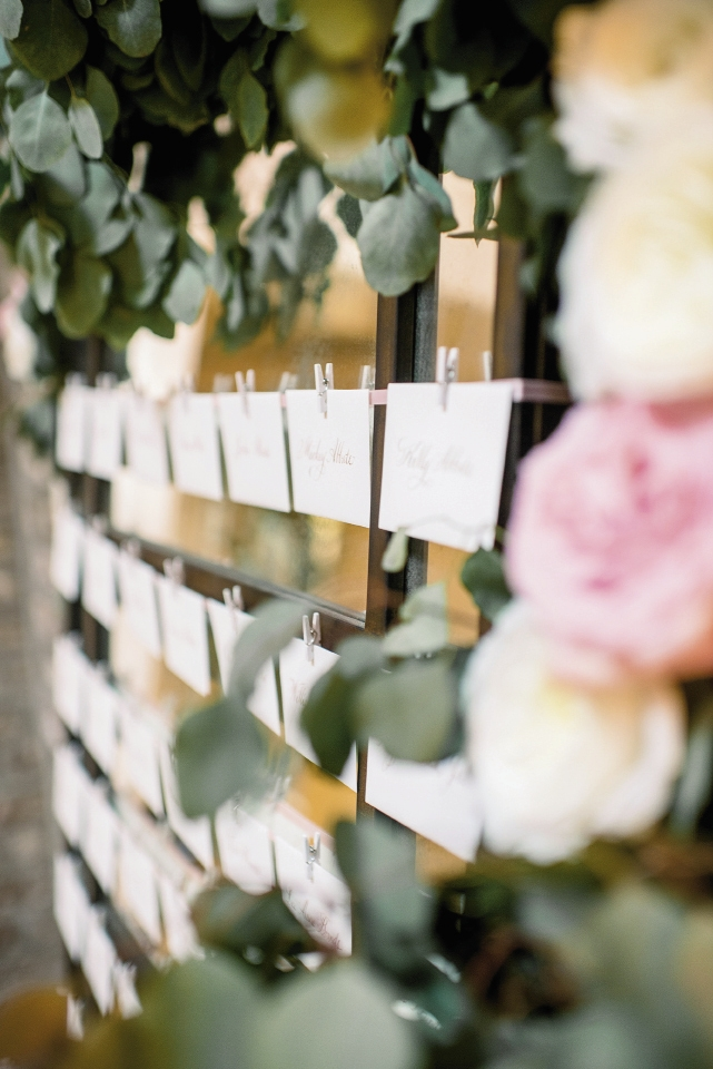 Wedding design by Sage Innovations. Florals by Branch Design Studio. Calligraphy by Elizabeth Porcher Jones. Image by Timwill Photography at McCrady's Restaurant.