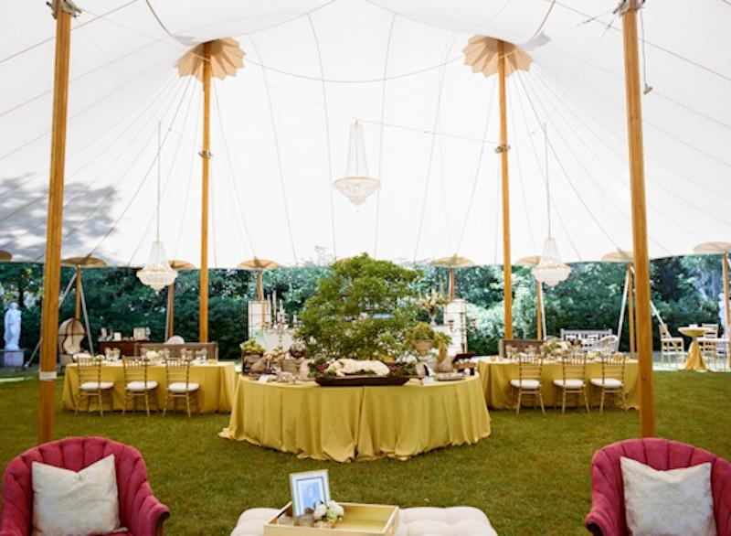 Décor and design by Southern Protocol. Rentals from EventHaus and 428 Main Vintage Rentals. Tent by Sperry Tents Southeast. Photograph by Marni Rothschild Pictures.