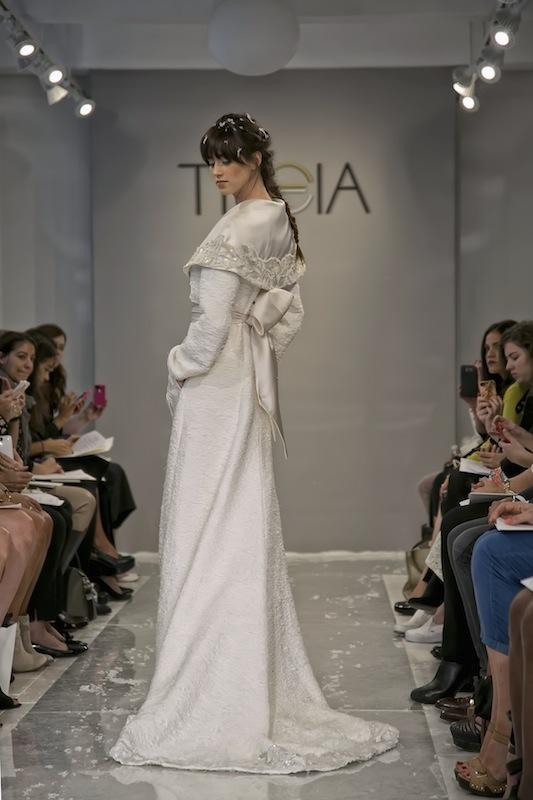 """THEIA White Collection's """"Yeal Ana."""" Available in Charleston through Gown Boutique of Charleston."""