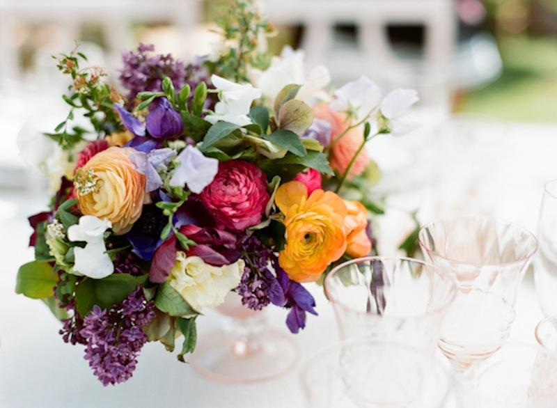 Florals by Out of the Garden. Crystal from Polished. Photograph by Marni Rothschild Pictures.