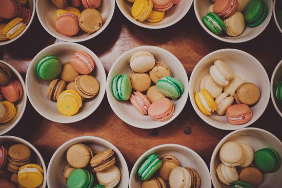 SOMETHING SWEET: Small bowls of macaroons from Granville's Catering were the perfect late-night treat.