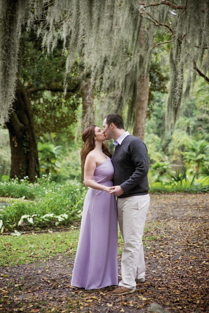 His attire from M. Dumas & Sons. Her attire from LulaKate. Styling by Lindsey Nowak. Hair and makeup by Wedding Hair by Charlotte. Photograph by Leigh Webber at Middleton Place.
