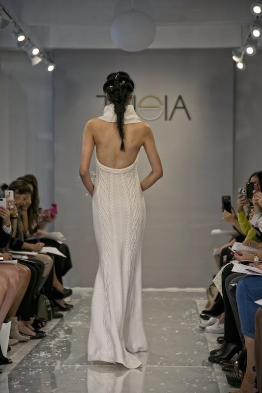 """THEIA White Collection's """"Erin."""" Available in Charleston through Gown Boutique of Charleston."""