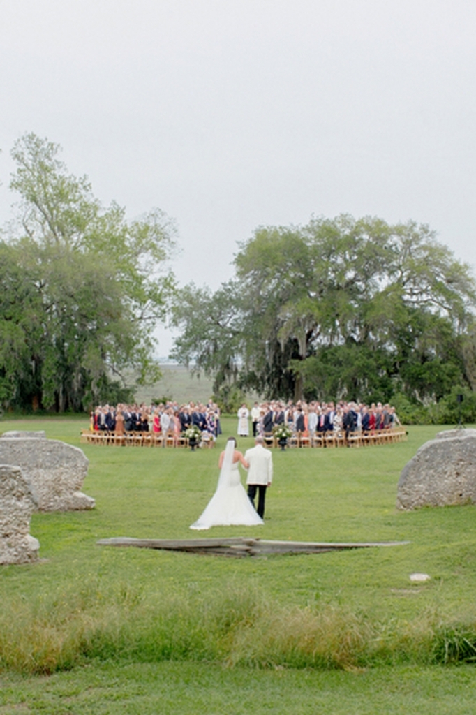Wedding design and coordination by Katie Huebel of WED. Image by Elisabeth Millay Photography at the Spring Island Tabby Ruins.