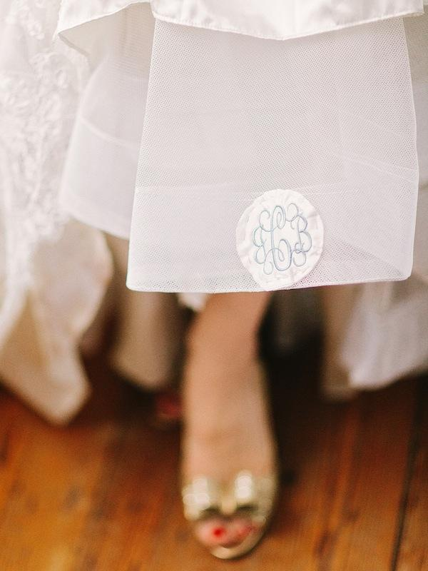 Bridal gown by Allure Bridals, available in Charleston through Bridals by Jodi. Shoes by Kate Spade. Image by Amy Arrington Photography.