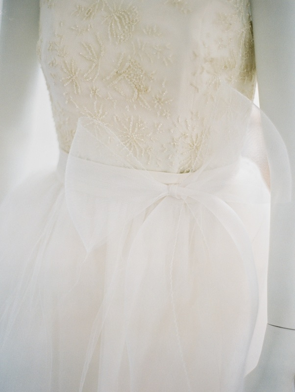 A tulle bow adds a touch of fairy tale to this Katherine McDonald frock.