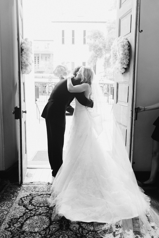 Bridal gown by Vera Wang, available in Charleston through Maddison Row. Image by Corbin Gurkin at The First Baptist Church of Charleston.