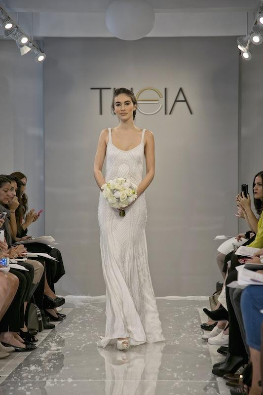 """THEIA White Collection's """"Suana."""" Available in Charleston through Gown Boutique of Charleston."""