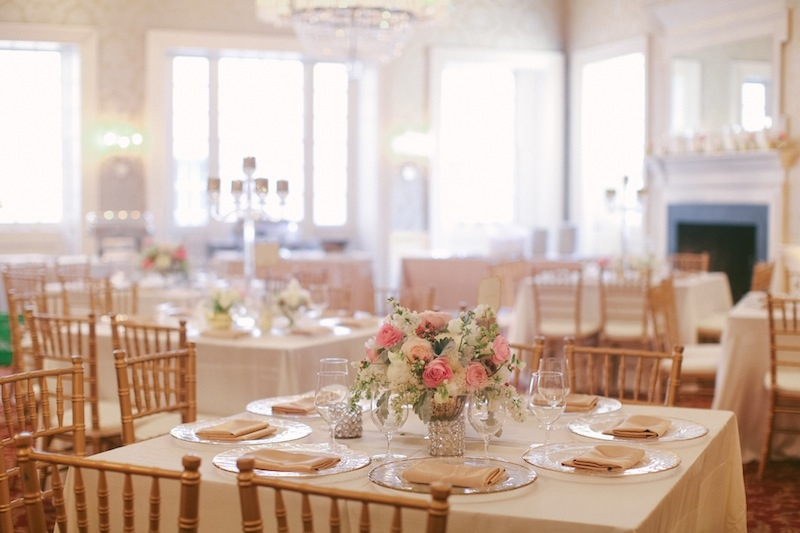 Rentals from EventHaus and Snyder Events. Wedding design and coordination by Sage Innovations. Florals by Branch Design Studio. Linens by Connie Duglin. Image by Juliet Elizabeth Photography at McCrady's Restaurant.
