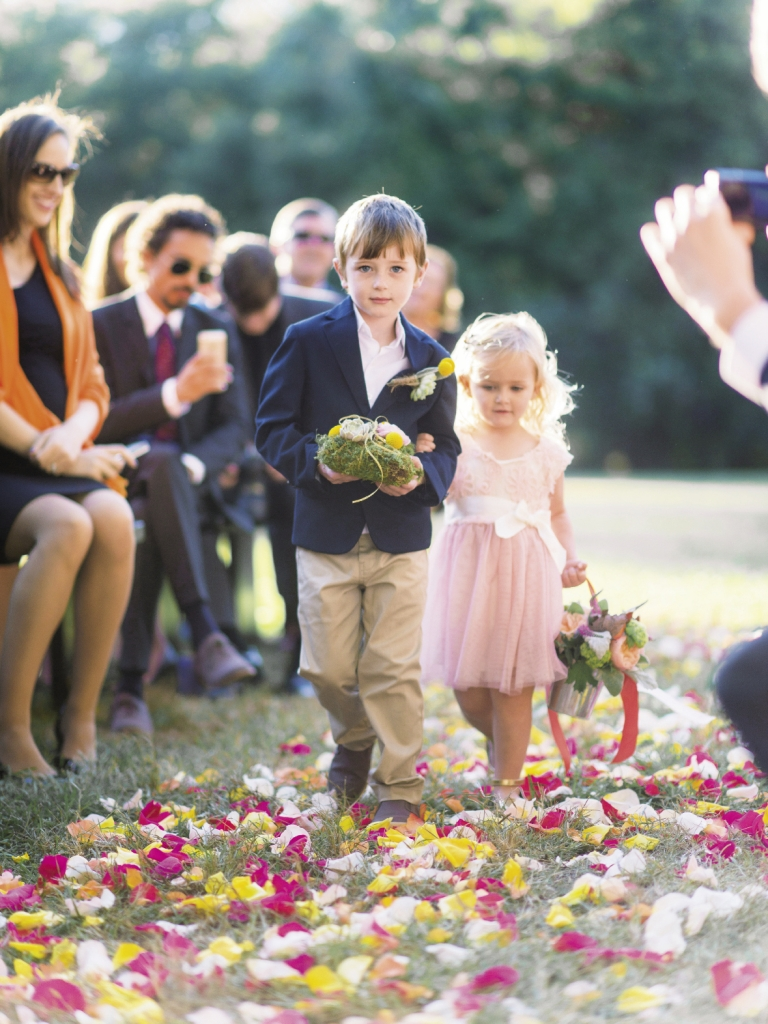 FAMILY AFFAIR: Brian  enlisted his nephew and niece—six-year-old Liam and three-year-old Chloe—to kick off the ceremonial festivities.